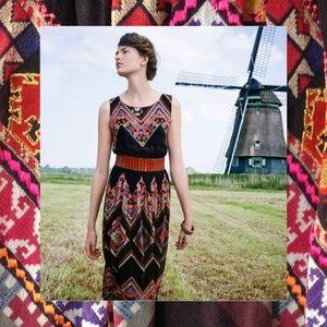 Tanvi Kedia embroidered chevron dress 4 6